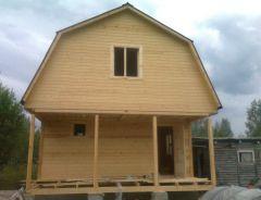Дом-баня с террасой